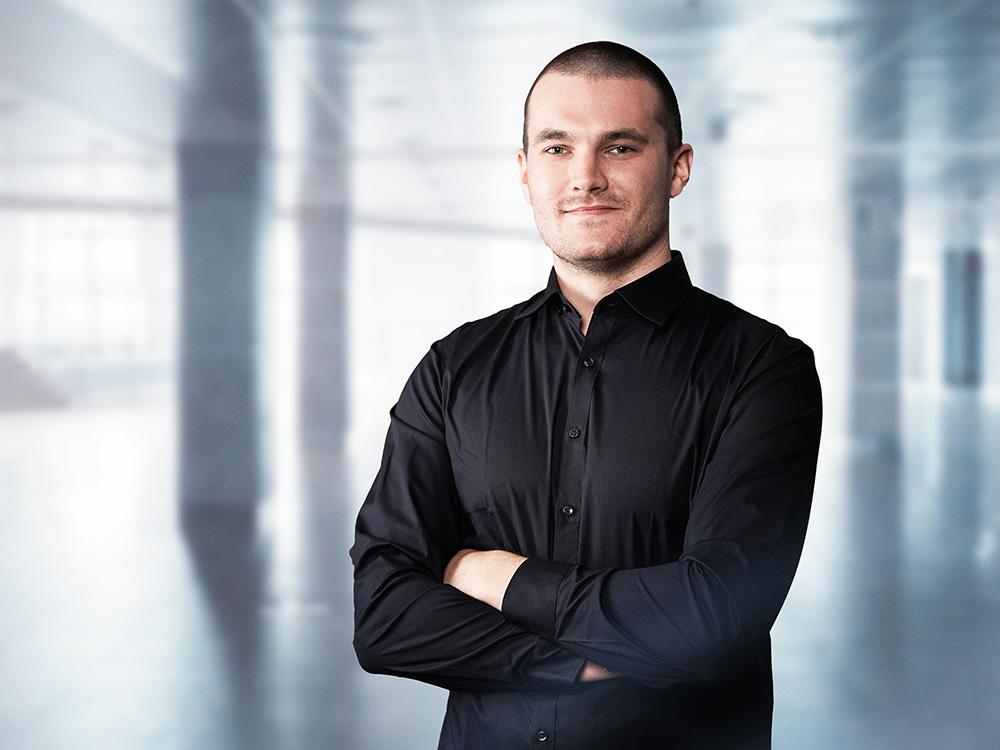 Matthias Hoppe, Auszubildender Veranstaltungstechniker bei ACETEC