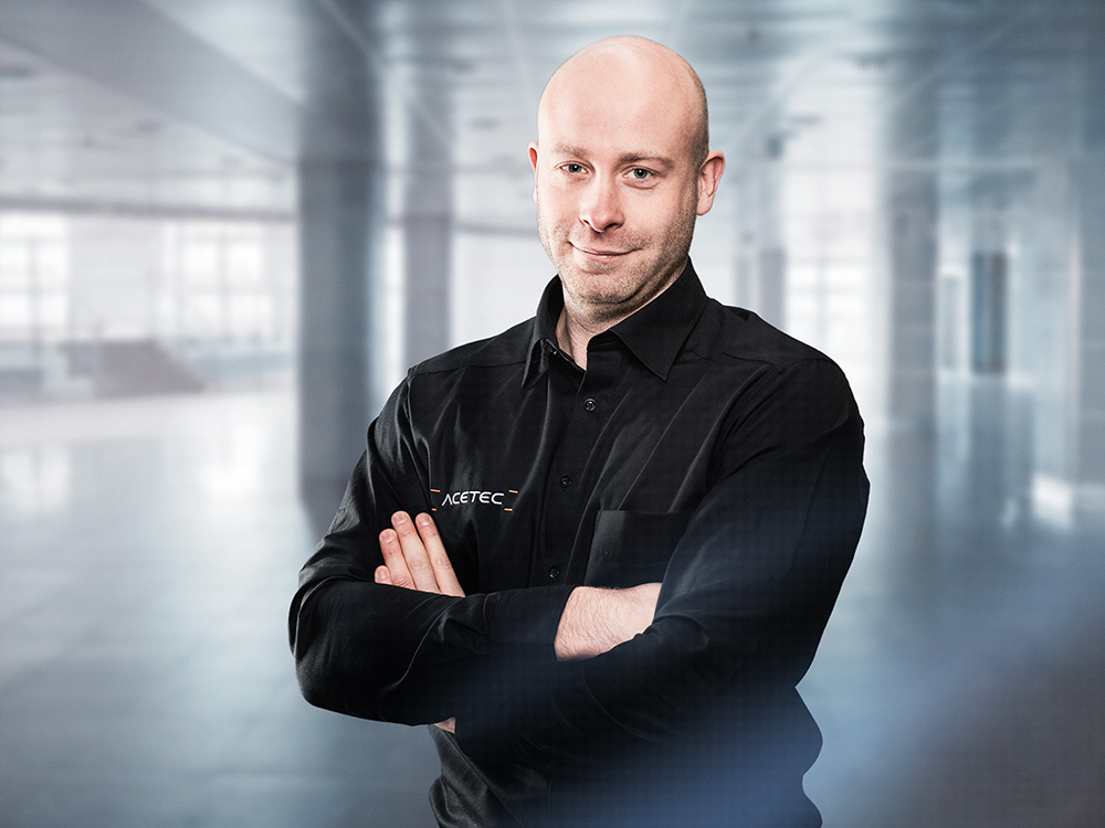 René Raabe, Medientechniker bei ACETEC