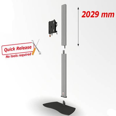 Audipack flat panel floorstand, quick release 390942 – ACETEC